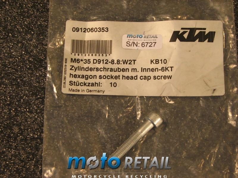 94-16 KTM 125 250 640 exc sx duke lc4 AH SCREW DIN0912-M 6X35  0912060353