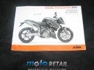 07 KTM 990 super duke r french Owner's manual